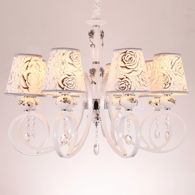 100 Classic 8bulb Modern Ceramic Chandeliers Lamp 6 Fashion Crystal Rustic Living Room Light Bedroom White In From Lights