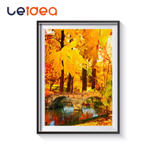Autumn Forest Pictures Painting By Numbers Hand Painted On Canvas Oil Flower Van Gogh Sunflow