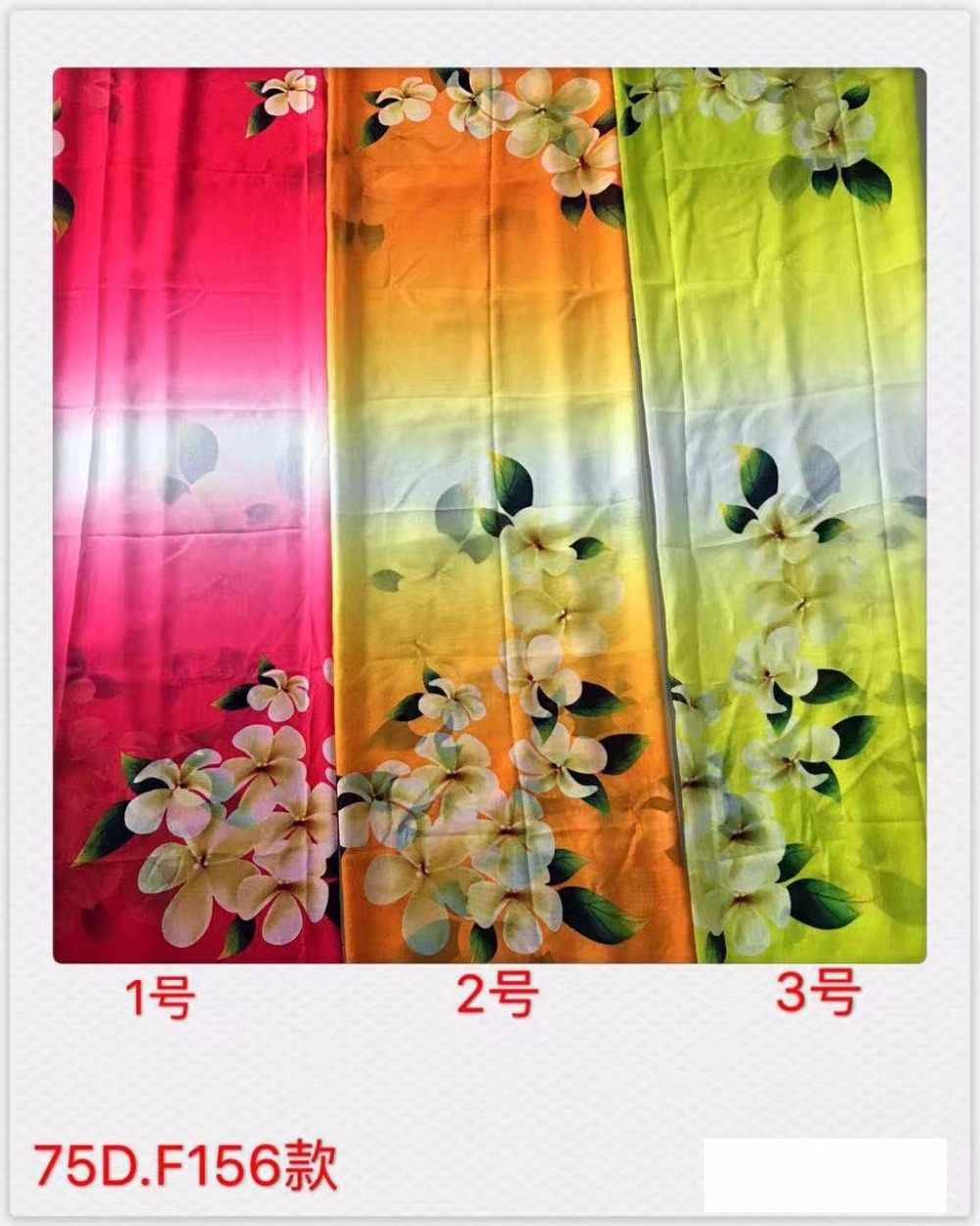 2018new 75D printing chiffon fabric flowers pattern for clothing fabrics and scarf 1meter YH-156