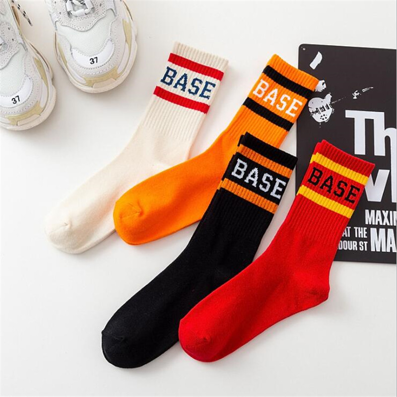 Men's Socks Popular Brand Fashion Men Socks Harajuku Hip Hop Street Skateboard Socks For Male Long Happy Socks Meias Casual Cotton Crew Socks Calcetines