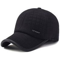 Winter Thicker Baseball Cap For Men With Earflaps Keep Warm Cotton Snapback Cap Men Father Hat