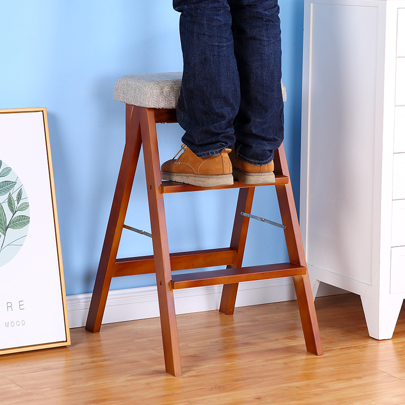Kitchen folding stool wooden creative simple multifunctional ladder chair portable home bench minimalist modernKitchen folding stool wooden creative simple multifunctional ladder chair portable home bench minimalist modern