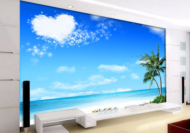 3D sea beach wall mural wallpaper ,Custom photo wallpaper according to your wall dimensions,The ...