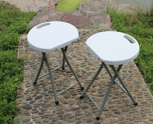 HDPE simple design plastic folding stool portable outdoor stool chair
