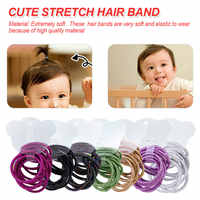 Lindas bandas elásticas coloridas para el cabello 10 unids/lote lazos para niñas Goma de goma Scrunchie banda diadema infantil