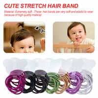 Bandes de cheveux élastiques colorées mignonnes 10 pièces/lot filles cravate gomme Scrunchie élastique enfants bandeau