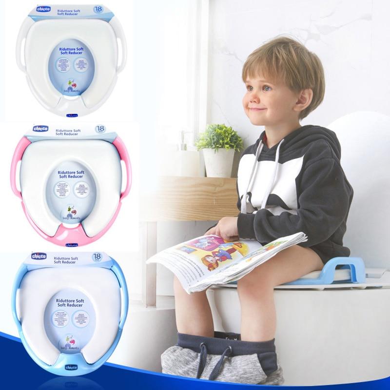 Asiento de inodoro para bebé, silla de baño para niños, cómoda y cómoda, alfombrilla de baño