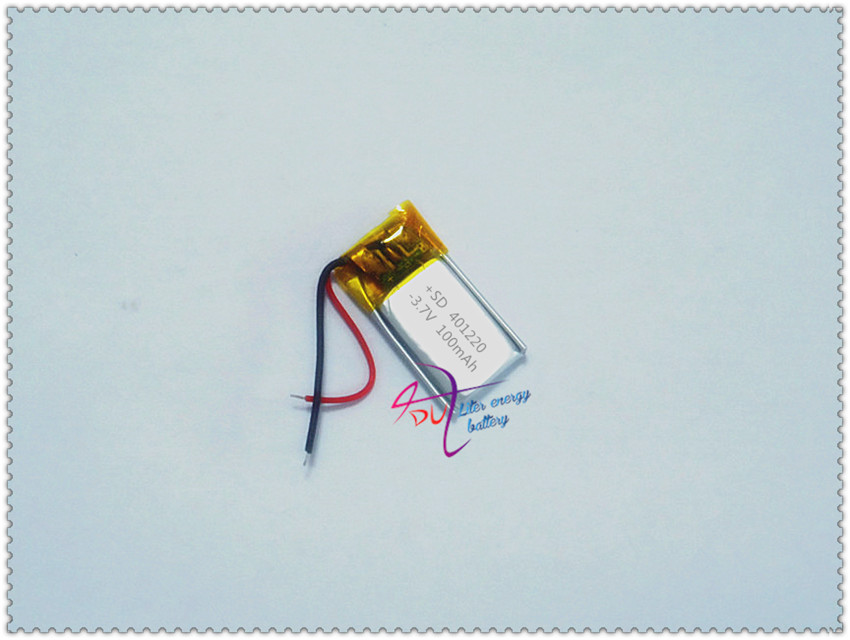 A product factory direct 3.7V lithium polymer battery built-in rechargeable battery 401220 100mah Bluetooth Headset