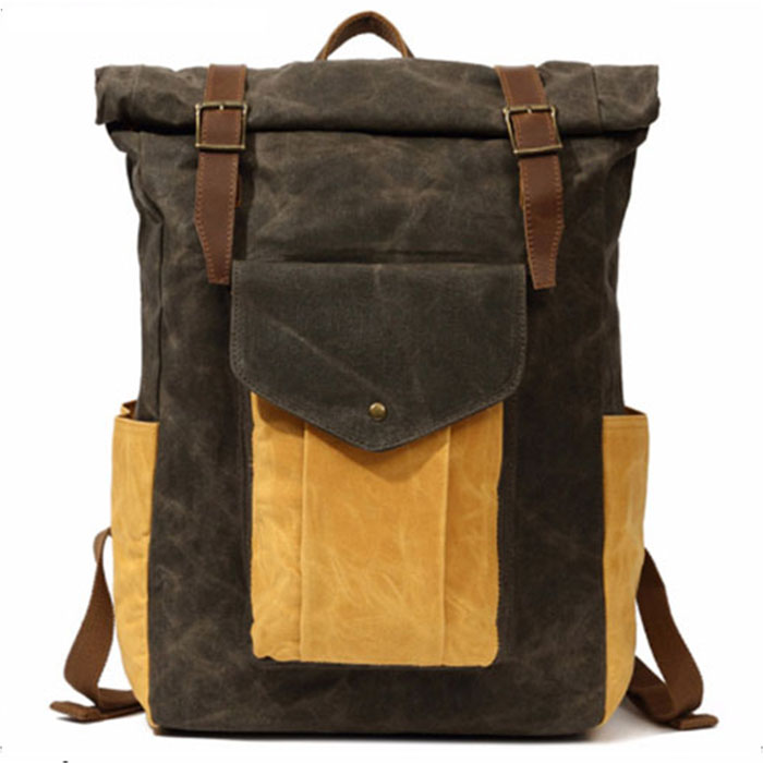 Laptop Backpack Men Canvas Notebook Backpacks Teenage Boys Girls School Bag Large Capacity Travel Bags Students Rucksack yellow new fashion simple style students canvas shoulder bag large capacity backpack change pouch four sets for girls boys