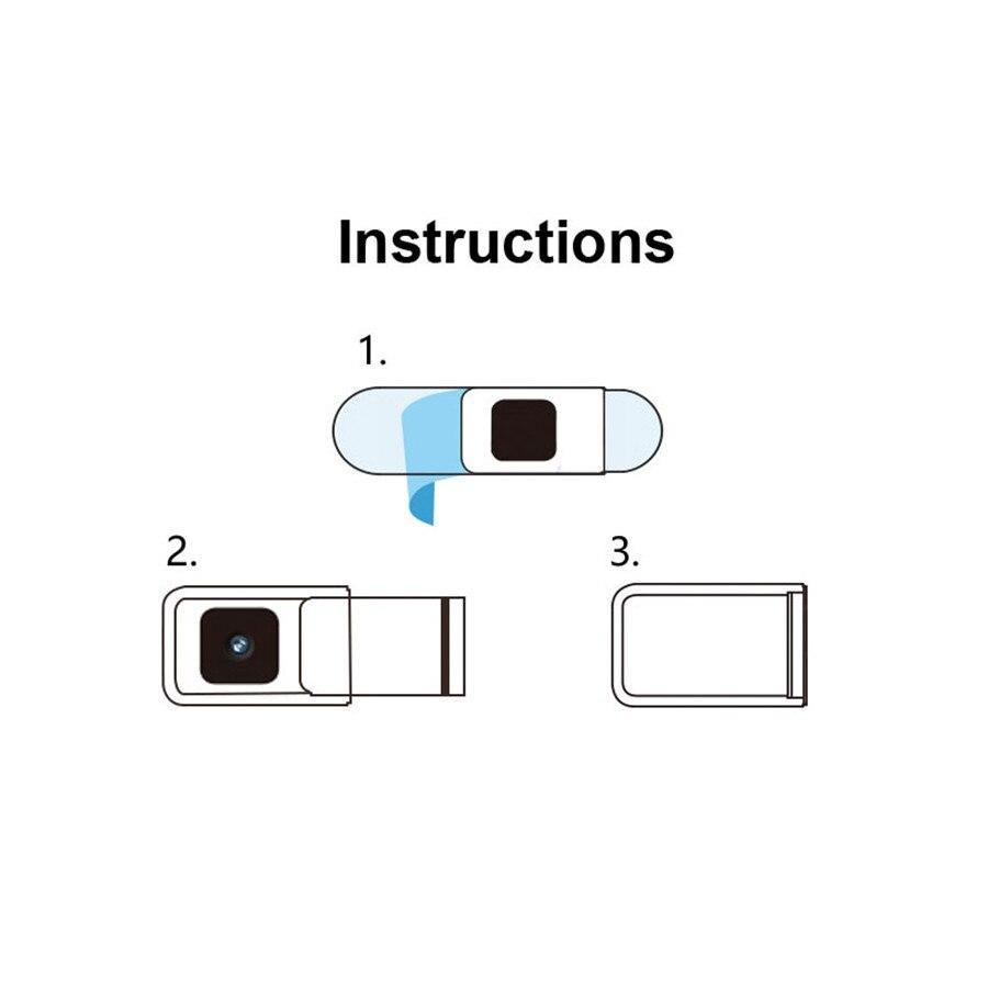 WebCam Cover Camera Case Shutter Magnet Slider Plastic Web Cam Cover for IPhone PC Laptops Mobile Phone Lens covers