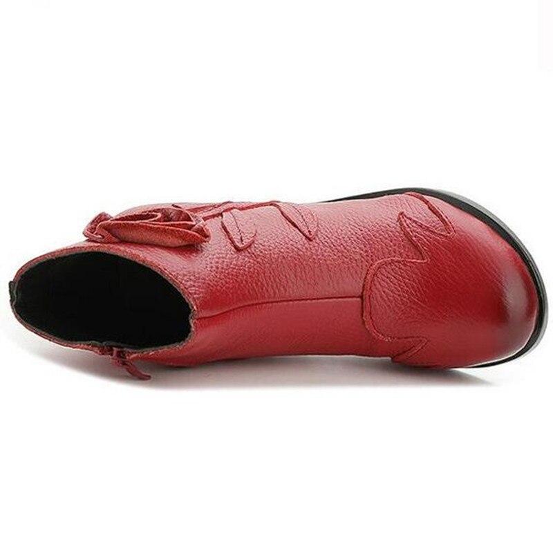 Long Calidad Red Cuero Zapatos Hechas Moda Mano 2018 Black Alta A De 678xwCn5qE