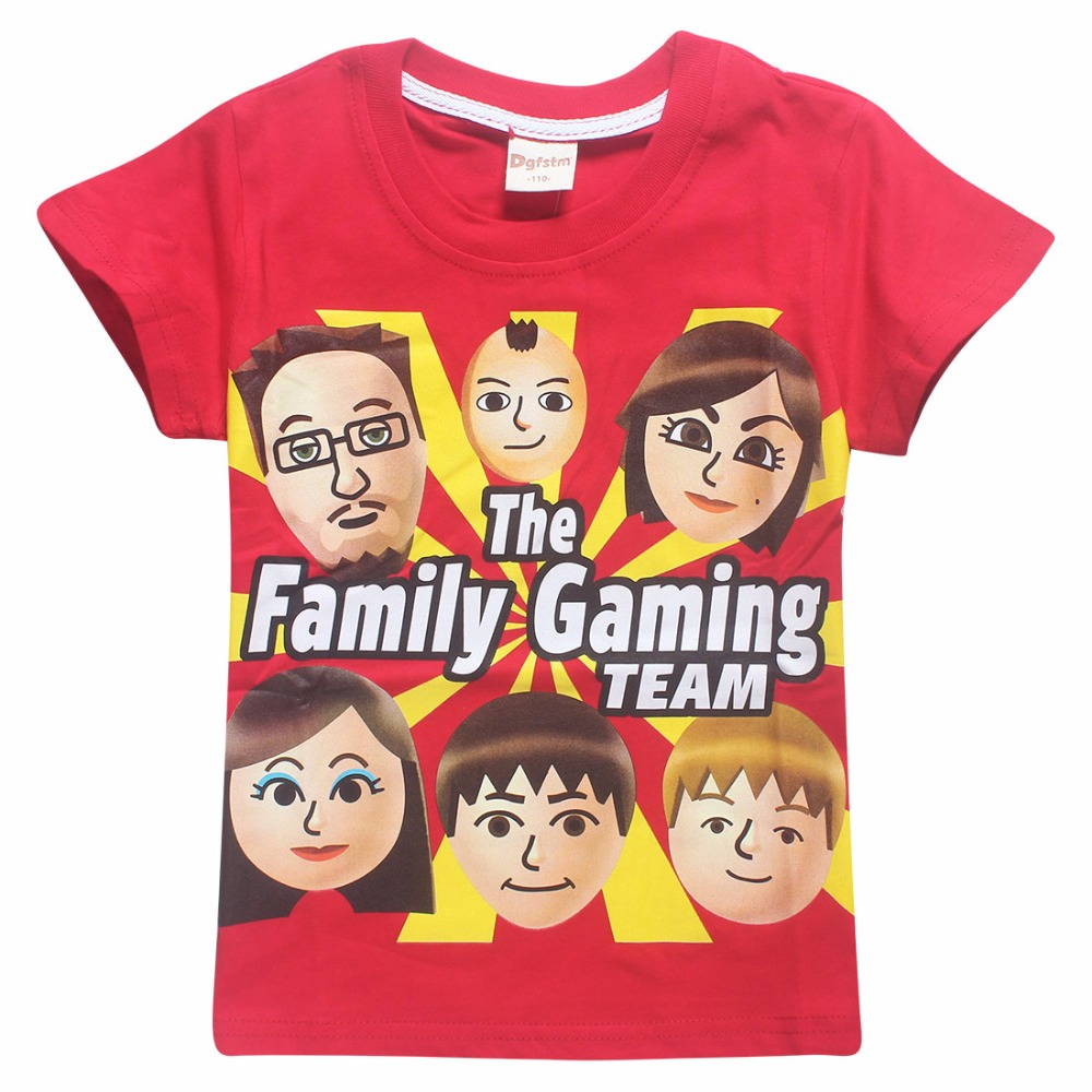 23b72032e139 2018 Summer FGTeeV Faces Kids T Shirts for boys girls tops tees Youth  Youtube Family Gaming Duddy Fgtv teens roblox t-shirt