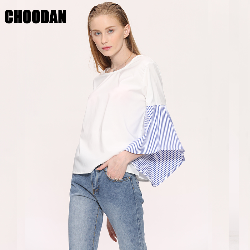 Aliexpress.com : Buy Ruffle Blouse Shirt Women Summer Tops 2017 ...
