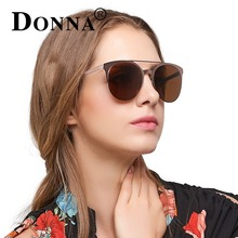 DONNA Mirror Rose Gold Sunglasses Women Round Luxury Brand Female Sun Glasses For Women 2017 Fashion Oculos Star Style D83