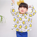 2017 meninas florais blusa crianças bonito blusas tops de verão para as meninas clothing gilrs roupas pétala collar camisa das meninas da menina da criança