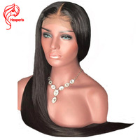 Hesperis 360 Lace Frontal Wigs Pre plucked Silk Stright Lace Front Wigs For Woman Brazilian Remy Lace Front Human Hair Wigs