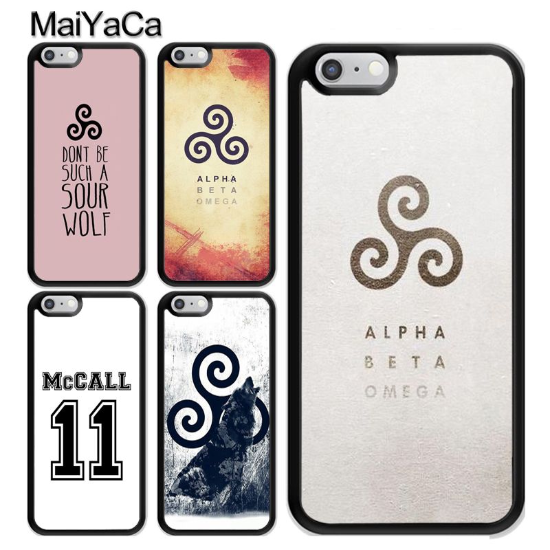 MaiYaCa Teen Wolf Scott McCall logo Coque Accessories For iPhone 6 6S 7 8 Plus X XR XS MAX 5S SE Case TPU Phone Cover