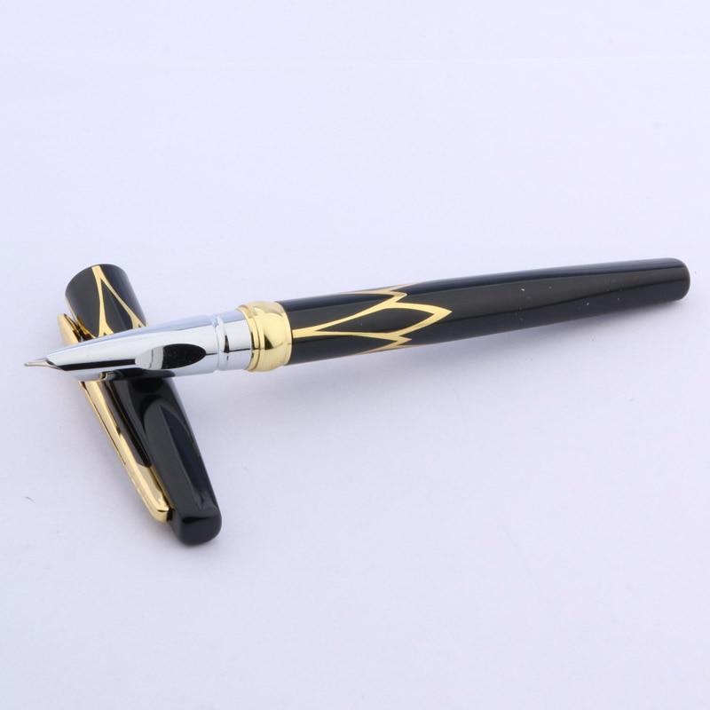 1pc New Golden Red Black  Fine  Nib Fountain Pen