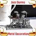 Новая идея подарок барабаны 3D модель металл музыкальный инструмент DIY игрушки украшения дома музыка модель ручной работы образование