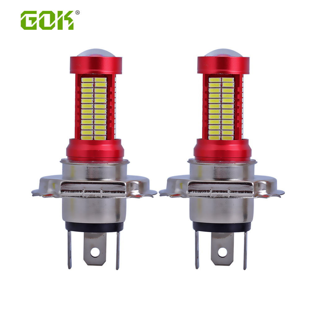 1 pcs Mobil Led lampu kabut H7 H4 106smd 4014 Led Chip 30 W Mobil Auto Motor Motor LED Mengemudi Headlight Fog Light Bulb