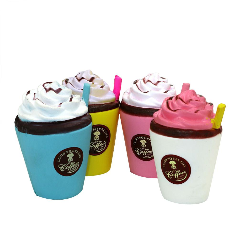 Cute Coffee Ice Cream Cup Design Slow Rising Toy PU Squishy Squeeze Toys Gifts For Kids