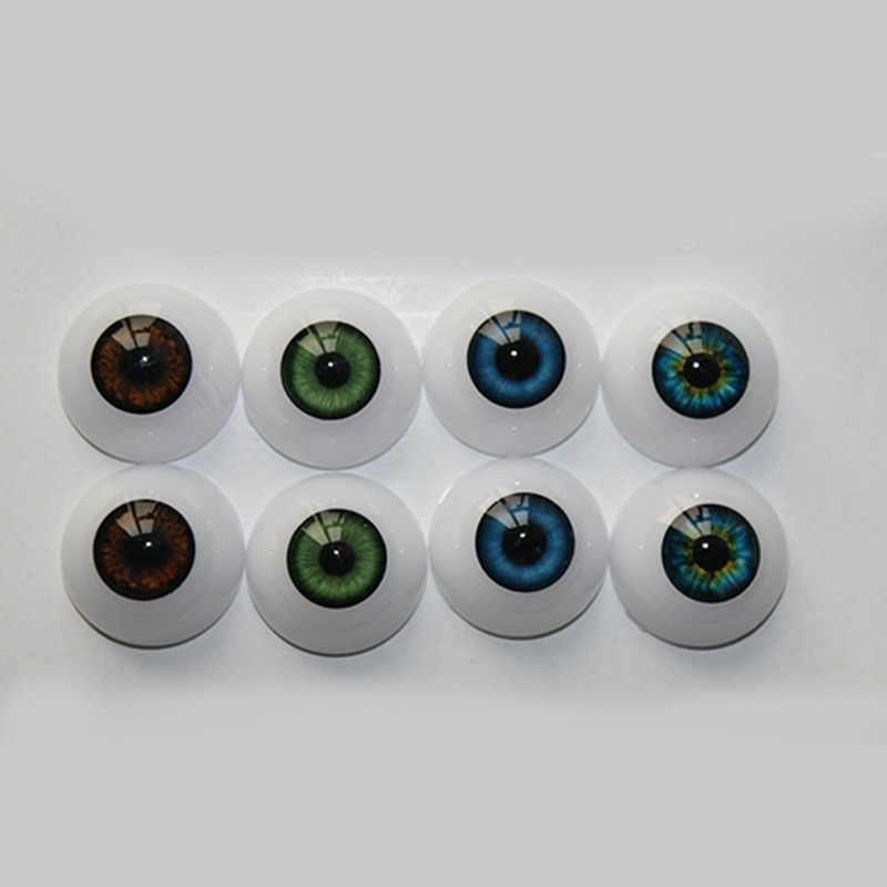 Коллекция НПК 22 мм акриловые глазного яблока для Reborn Половина Круглая кукла глаза разные Цвет оптом-WG