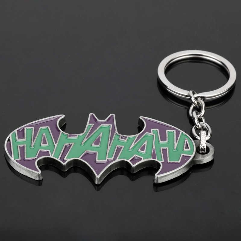 Dongsheng DC брелок с суперменом Джокер Отряд Самоубийц и Бэтмен Темный рыцарь эмаль металлические брелки Hahahaha письмо брелок в подарок