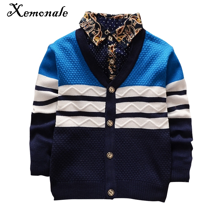 Xemonale Autumn Winter boys sweaters kntting cardigan casual boys pullovers Children's Kids Warm Clothes Gift For Boy
