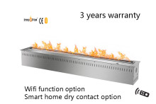 36 inch Smart Remote control intelligent silver or black  auto ethanol fireplace with remote
