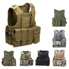 Tactical Vest Amphibious Battle Military Molle Waistcoat camo color Combat Assault Plate Carrier Protection Vest for Hunting недорого