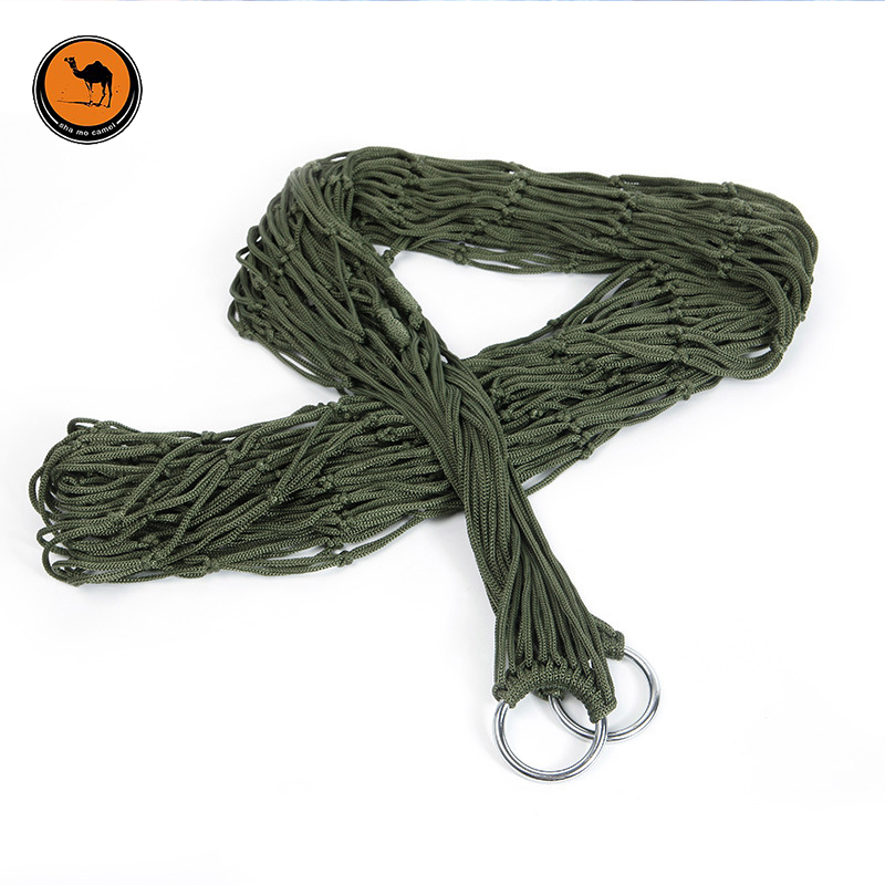 New Portable Durable Reticular Hammock with Rope Garden Outdoor Furniture Mesh Hammock Swing Nylon Hang Net Hamaca Hamac 2 people portable parachute hammock outdoor survival camping hammocks garden leisure travel double hanging swing 2 6m 1 4m 3m 2m