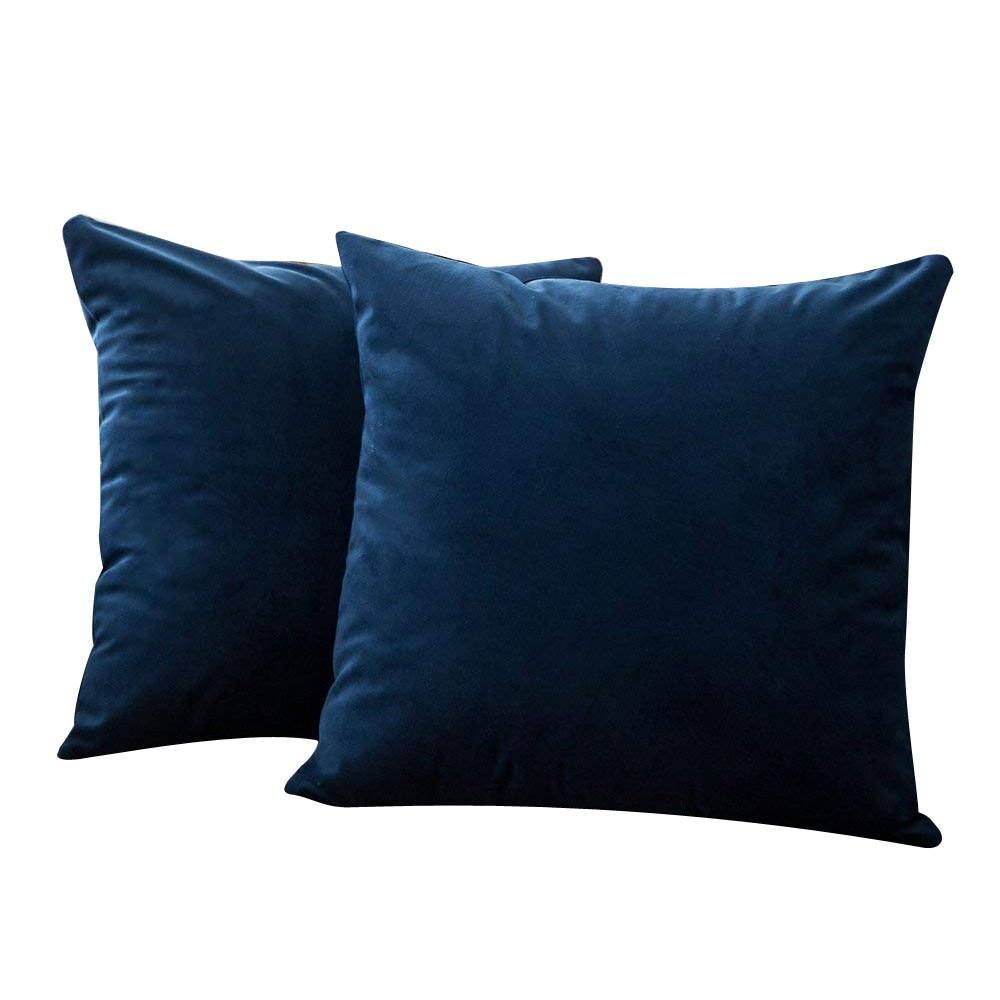 2pc 40cm 40cm 16 X 16 Inch Velvet Soft Square Throw Pillow