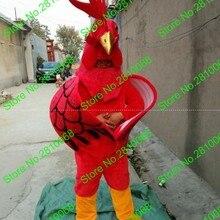 Сделать высокого качества EVA материал шлем красный петух-талисман костюмы мультфильм одежда день рождения для вечеринок и маскарадов 878