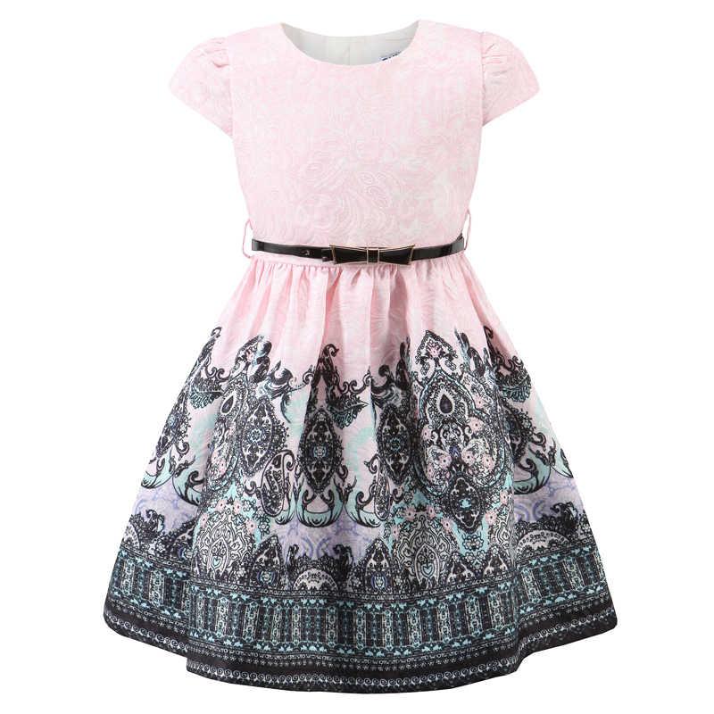 3cf20ba4b4e ChildDkivy От 3 до 12 лет Осенние платья для девочек Детские Платья с  цветочным принтом для