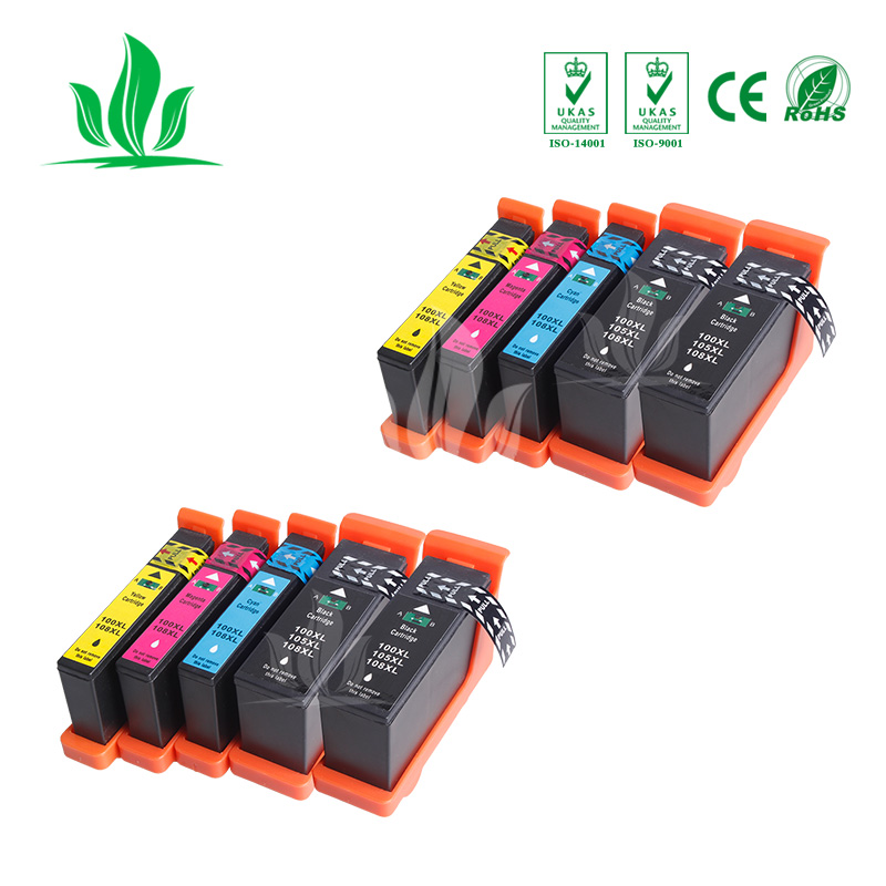 10 pcs 100XL LM100 ink cartridge Compatible for Lexmark S305 S405 S505 S605 Pro205 Pro 705 805 905 Printer10 pcs 100XL LM100 ink cartridge Compatible for Lexmark S305 S405 S505 S605 Pro205 Pro 705 805 905 Printer