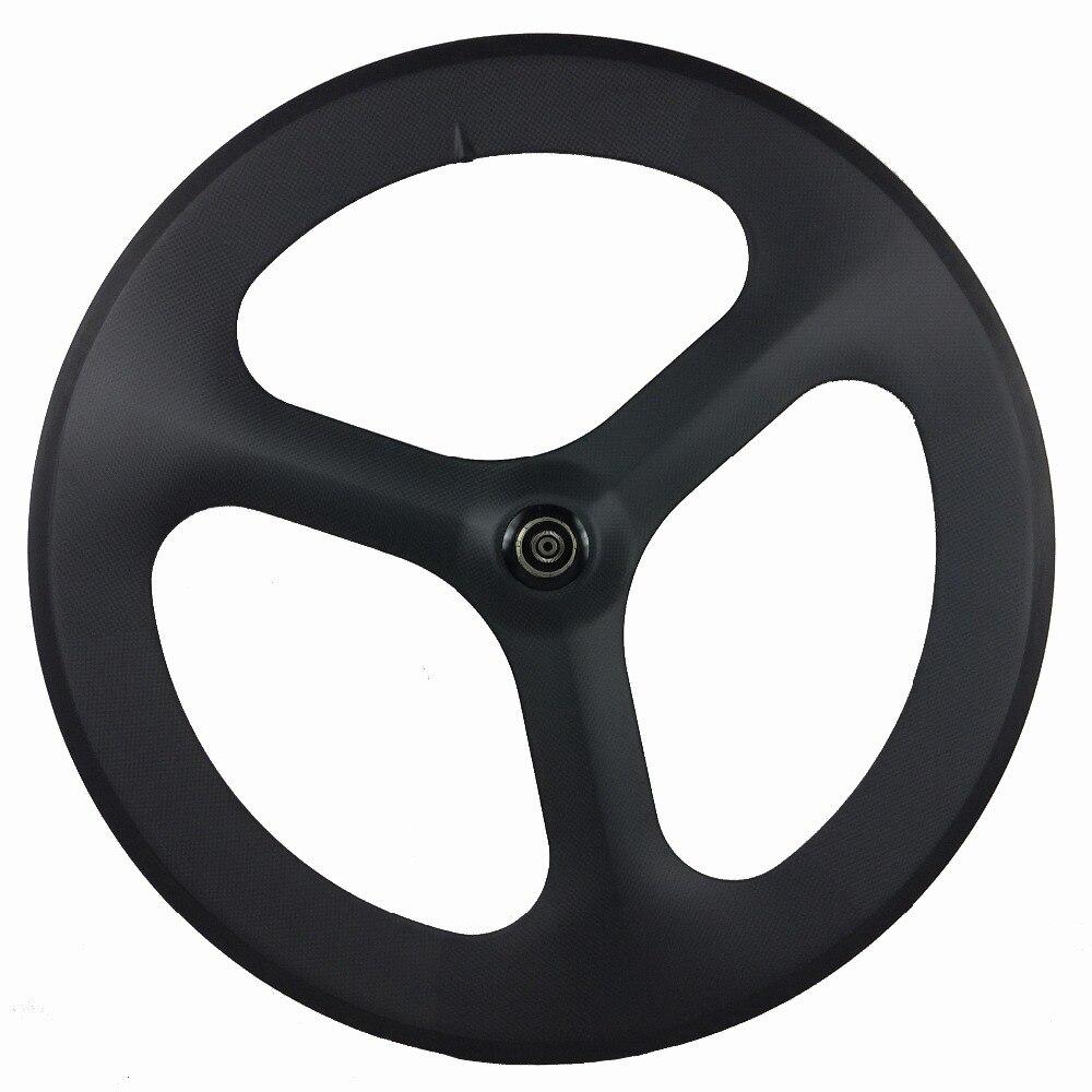 Roues de route en carbone TRI 3 rayons 700C 23mm largeur 70mm profondeur tubulaire/avant roue arrière pas cher roue en carbone boutique de vélo offre spéciale en ligne