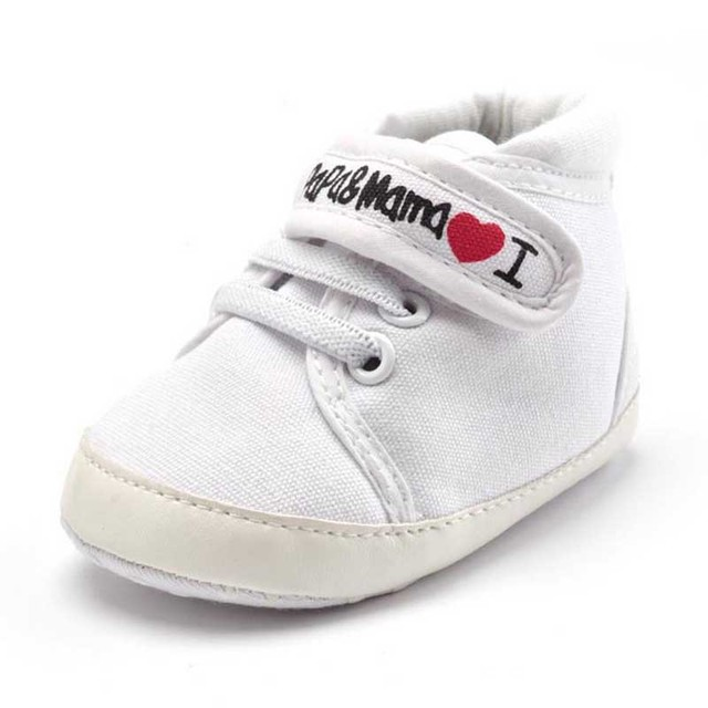 2017 Spring New Fashion Baby Shoes Cotton Hook Letter Children Baby Girl Boy Shoes Sneakers Newborn First Walkers 11-13cm