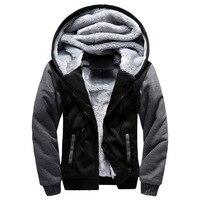 FGKKS Men Warm Hoodies 2018 Winter Jacket Fashion Thick Men's Hooded Sweatshirt Male Warm Fur Sportswear Tracksuits Mens Coat