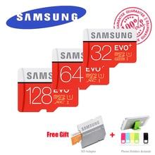 SAMSUNG Memory Card 16GB 32GB 64GB 128GB SDHC SDXC TF 80MB/s Grade Class 10 EVO+ MicroSD Micro SD C10 UHS TF Trans Flash + Gift