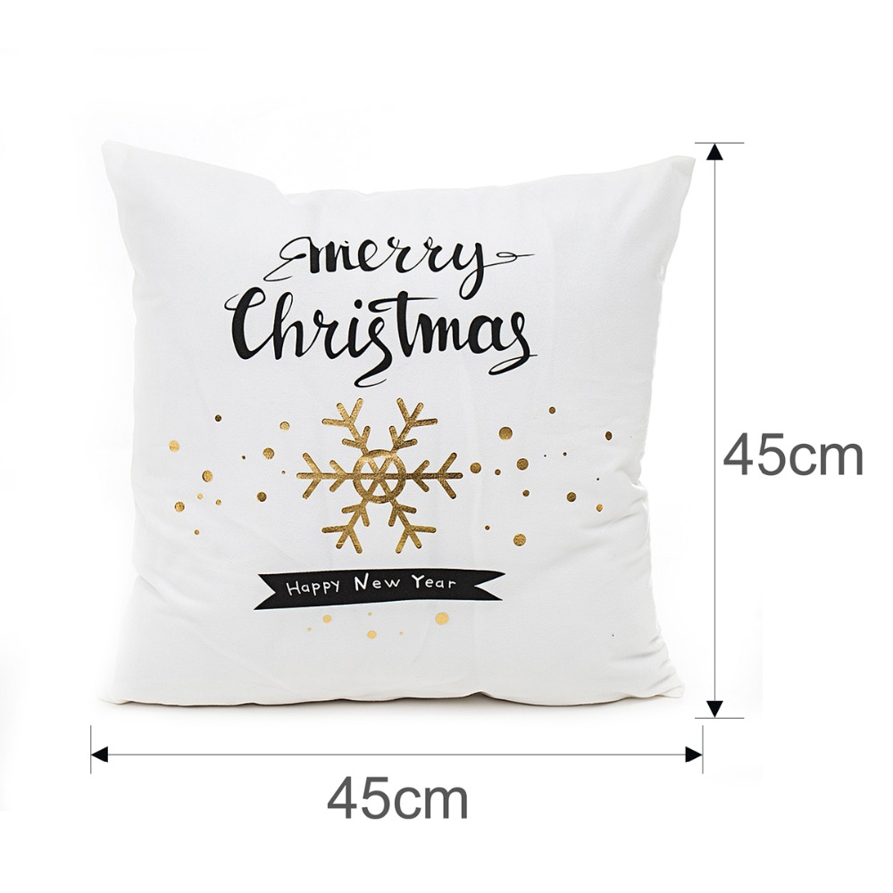 Christmas Pillow Cushion Covers Merry Christmas Decoration For Home New Year Decorations Xmas Ornaments Christmas Party 2019 in Pendant Drop Ornaments from Home Garden