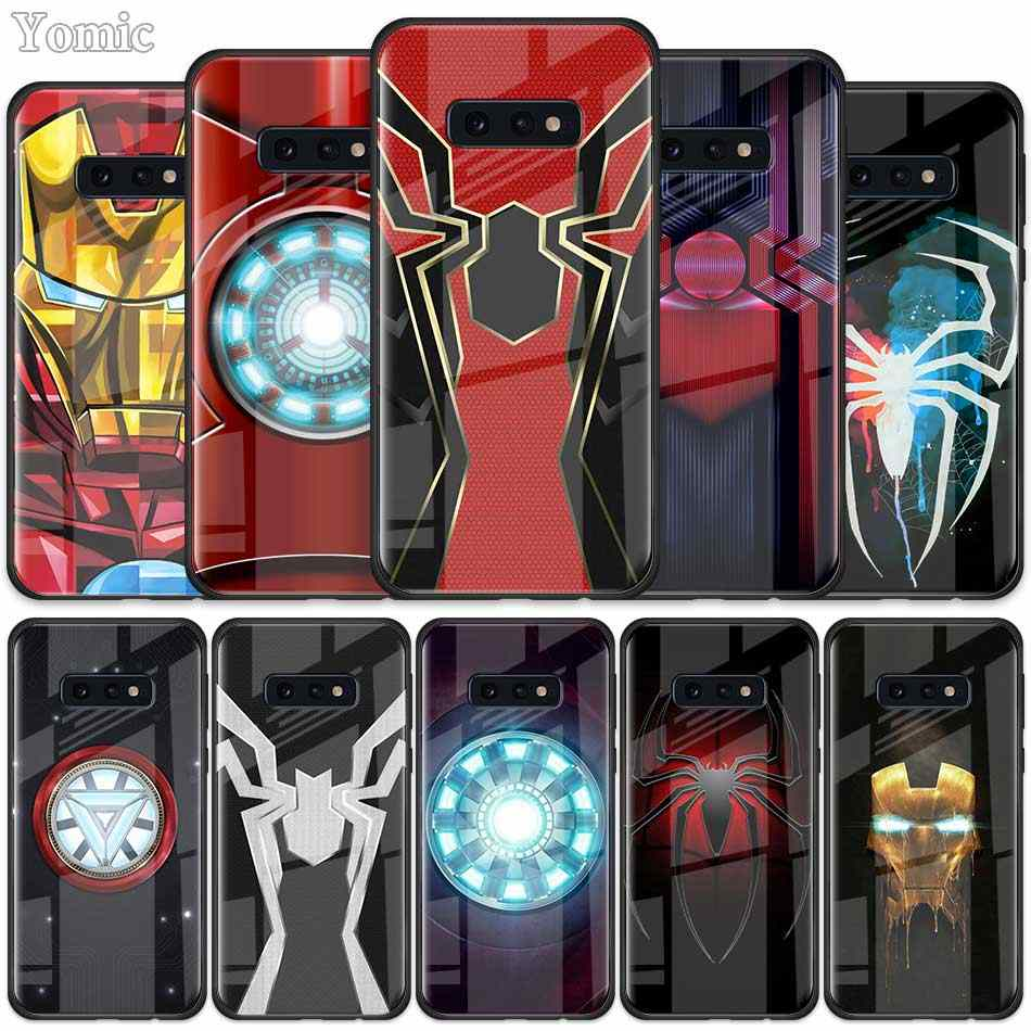Чехол из закаленного стекла Marvel Iron Spider man Infinity War для samsung Galaxy S10 S10e S9 S8 S10 Plus Note 9 A50 A30