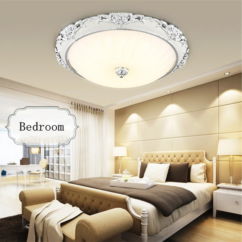 Modern European style bedroom ceiling lamps lights round crystal lamp LED lamps room living room balcony restaurant lighting