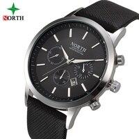 North Fashion Men Watch Black Luxury Casual Calendar Man Business Watch Waterproof Male Sport Quartz Wristwatch