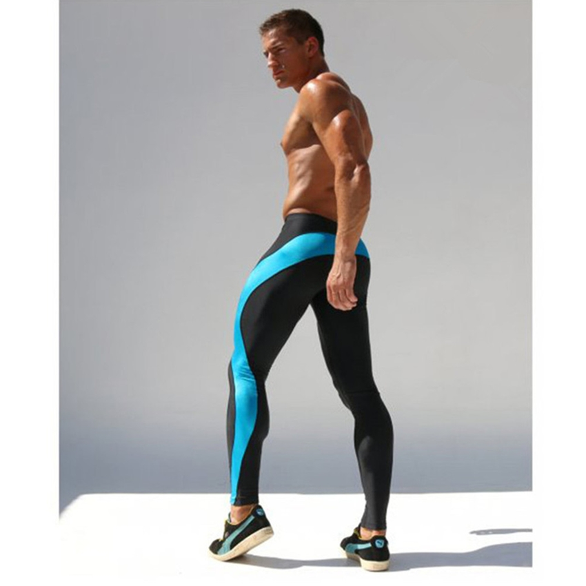 2018 New Mens Waist Tight Cotton Men Pants High Elastic Gyms Fitness Exercise Pants Men Fashion Casual Jogger Brand Clothing