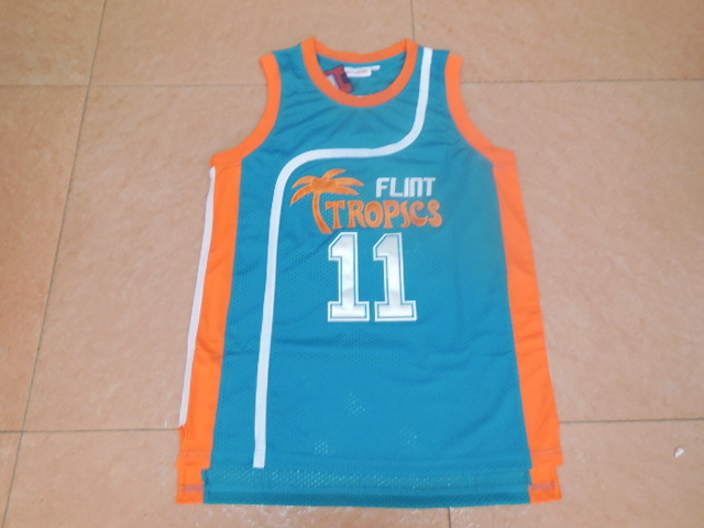 Cheap Men s  11 ED Monix Flint Tropics Semi Pro Movie Basketball Jersey  Retro Film Green White Stitched Jerseys SJ804 e768347a1