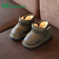 10 13CM Infant Baby Boots Genuine Leather Baby Shoes Boys Girls Fur Booties Girl Black Yellow