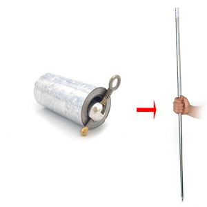 Image 1 - Palo mágico retráctil de 1,1 M, juguete elástico que aparece en Metal, bastón, bufanda, palos, accesorios para mago TY0334