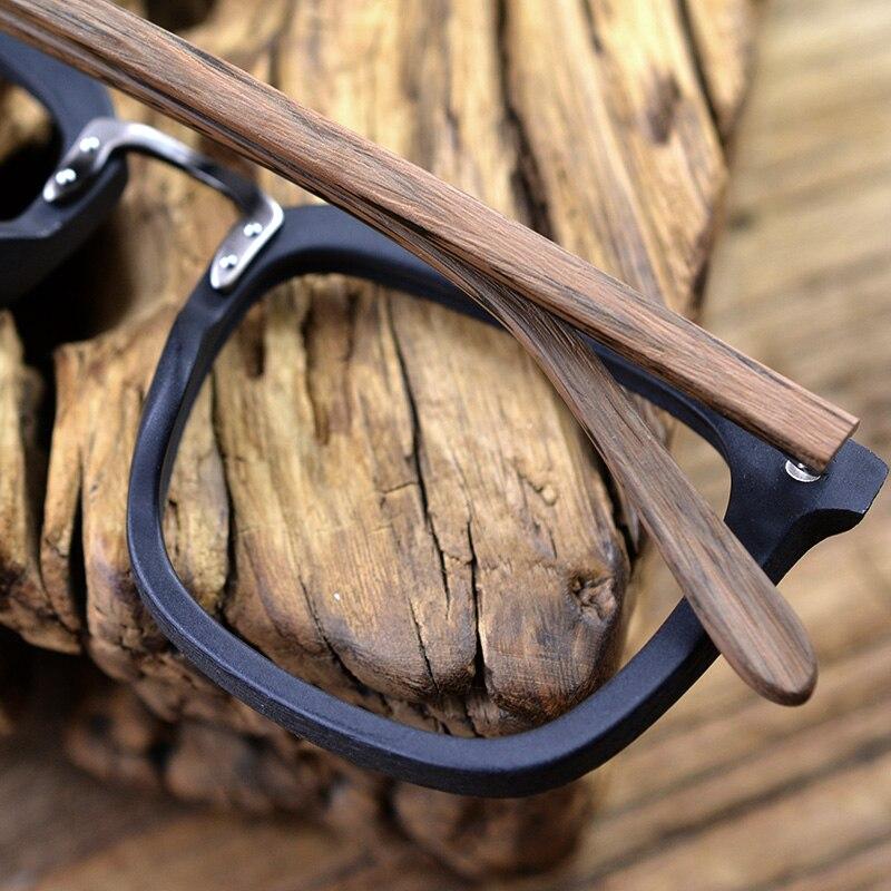 Image 3 - HDCRAFTER, деревянные оправы для очков, Мужские квадратные очки для близорукости по рецепту, 2019, мужские деревянные очки, полная оптическая оправа-in Мужские очки кадры from Аксессуары для одежды on AliExpress - 11.11_Double 11_Singles' Day