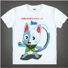 Japanese Famous Anime T Shirt Fairy Tail Funny t-shirt Short Sleeve O-neck MEN WOMEN