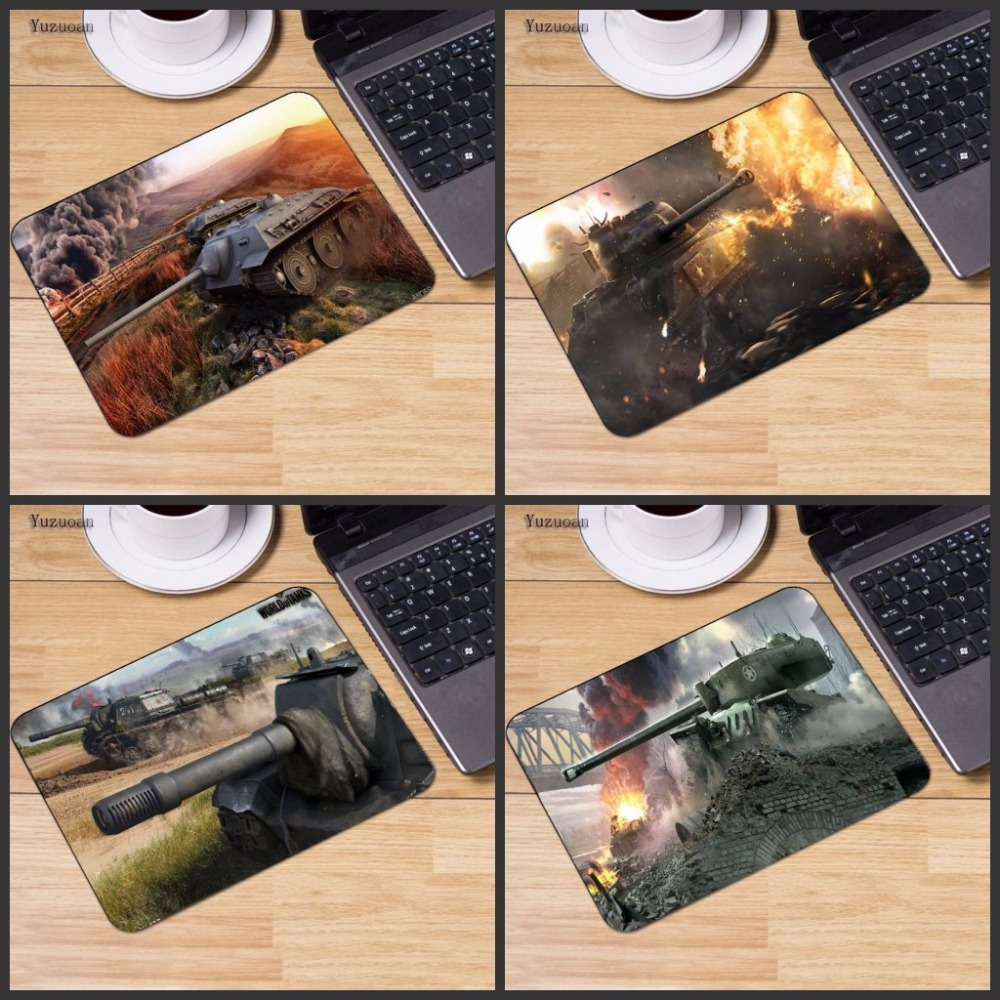 Yuzuoan Cool World Of Tanks Mouse Pad Large Pad To Mouse Computer Mousepad Wot Natural Rubber Gaming Mouse Mats To Mouse Gamer felt mouse pad computer mouse pad mousepad speed control mouse mat for csgo dota world of tanks legend large mouse pad 800 300